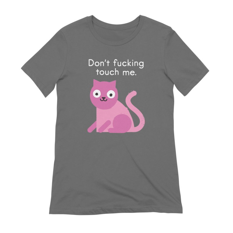 Purrsonal Space Women's French Terry Zip-Up Hoody by David Olenick