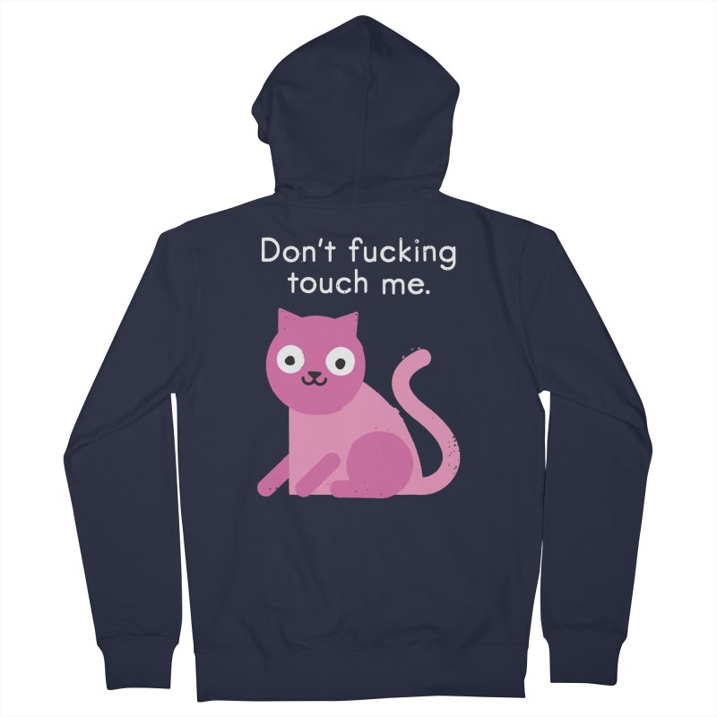 Purrsonal Space Men's French Terry Zip-Up Hoody by David Olenick
