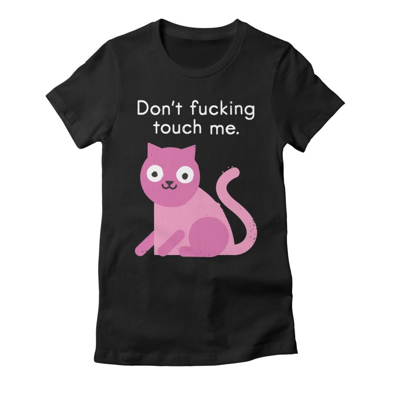 Purrsonal Space Women's Fitted T-Shirt by David Olenick