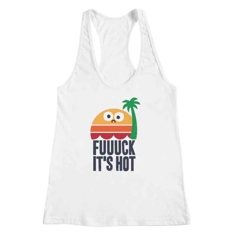 Heated Rhetoric Women's Racerback Tank by David Olenick
