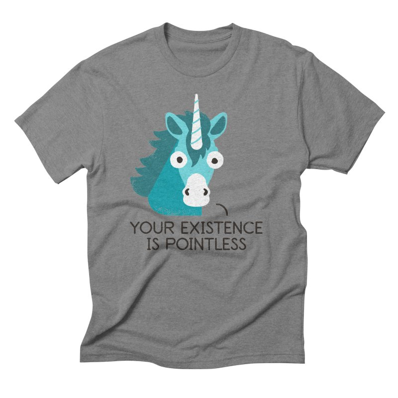 Neigh Sayer Men's Triblend T-Shirt by David Olenick
