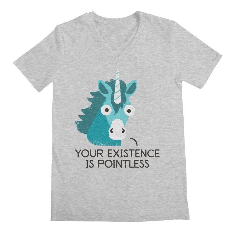 Neigh Sayer Men's Regular V-Neck by David Olenick