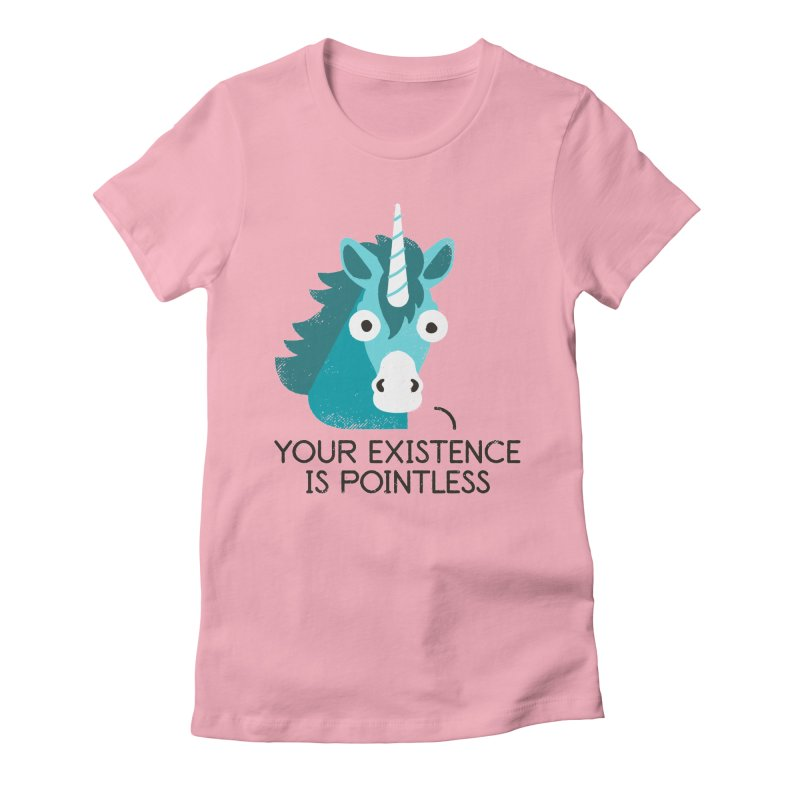 Neigh Sayer Women's Fitted T-Shirt by David Olenick