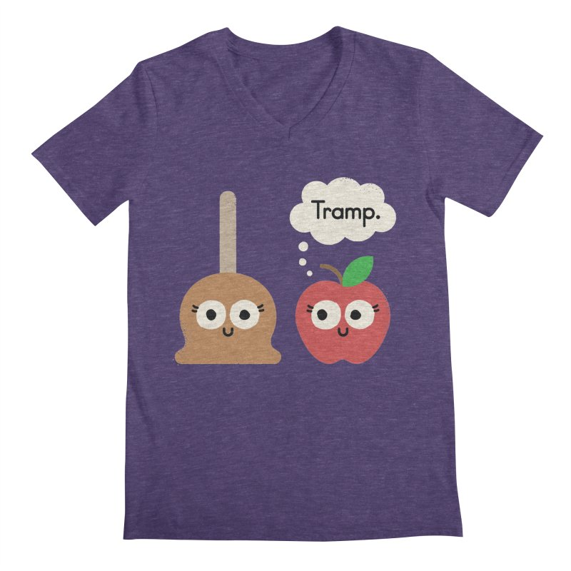 Apple Jelly Men's Regular V-Neck by David Olenick