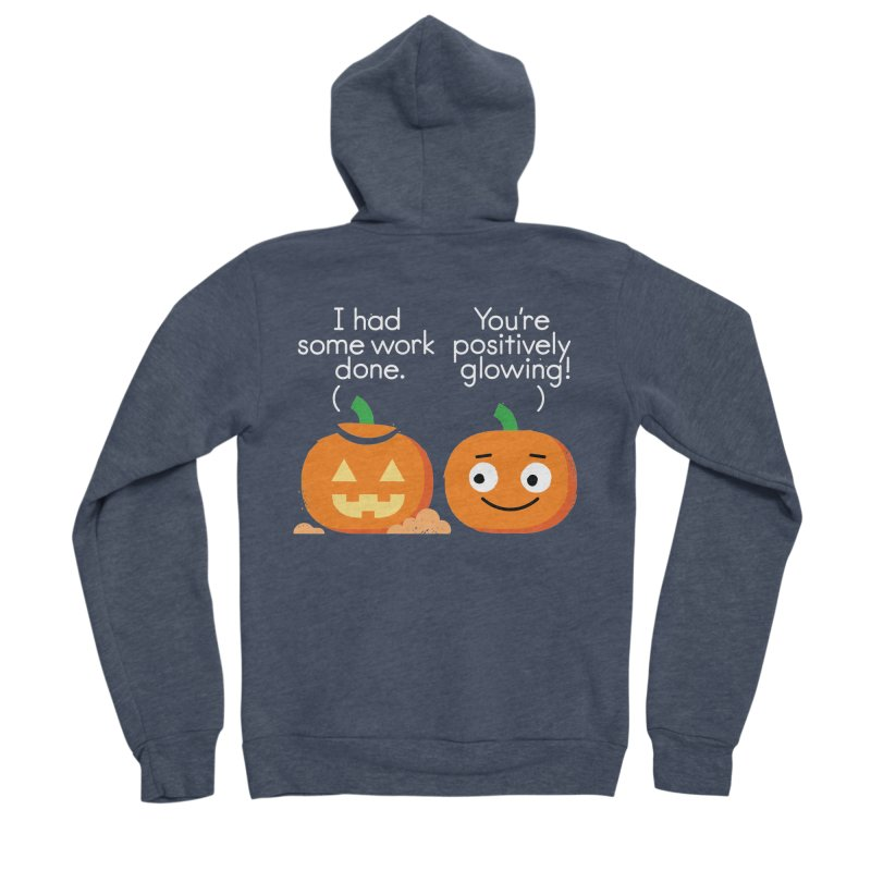 Carving Out Some Me Time Men's Sponge Fleece Zip-Up Hoody by David Olenick