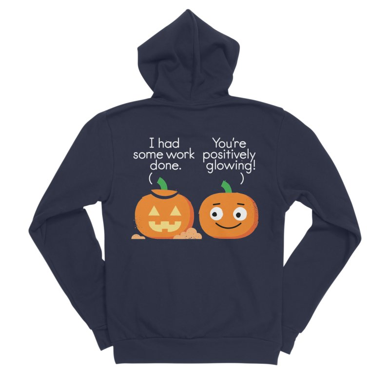 Carving Out Some Me Time Women's Sponge Fleece Zip-Up Hoody by David Olenick