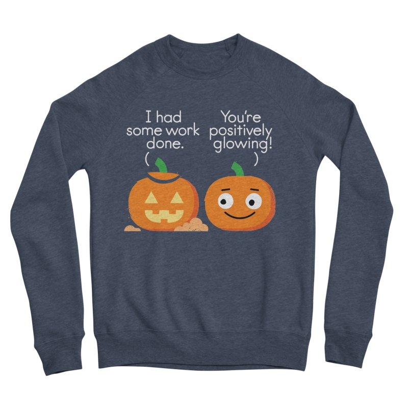 Carving Out Some Me Time Men's Sponge Fleece Sweatshirt by David Olenick