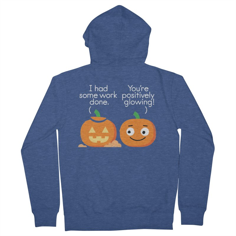 Carving Out Some Me Time Women's French Terry Zip-Up Hoody by David Olenick
