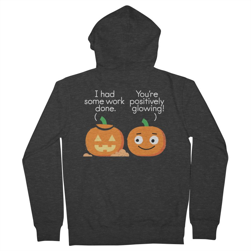 Carving Out Some Me Time Men's French Terry Zip-Up Hoody by David Olenick
