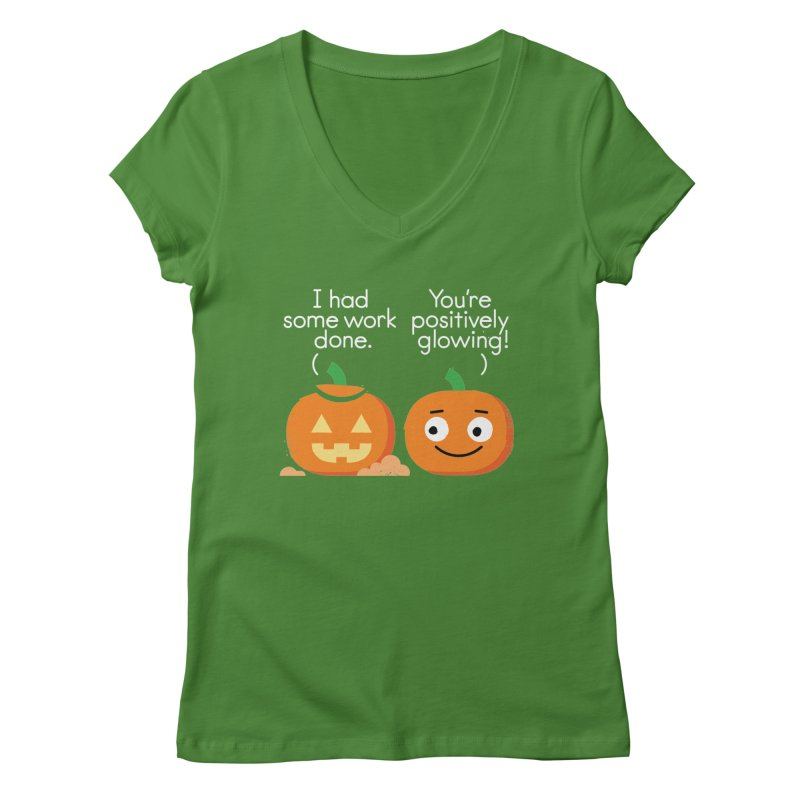 Carving Out Some Me Time Women's Regular V-Neck by David Olenick