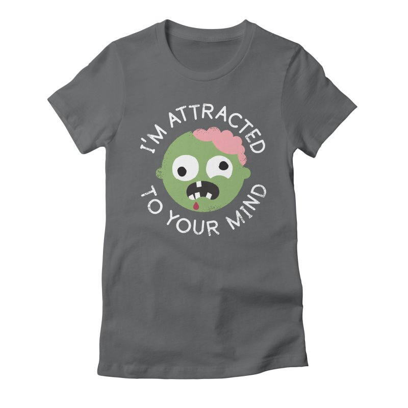 No Brainer Women's Fitted T-Shirt by David Olenick