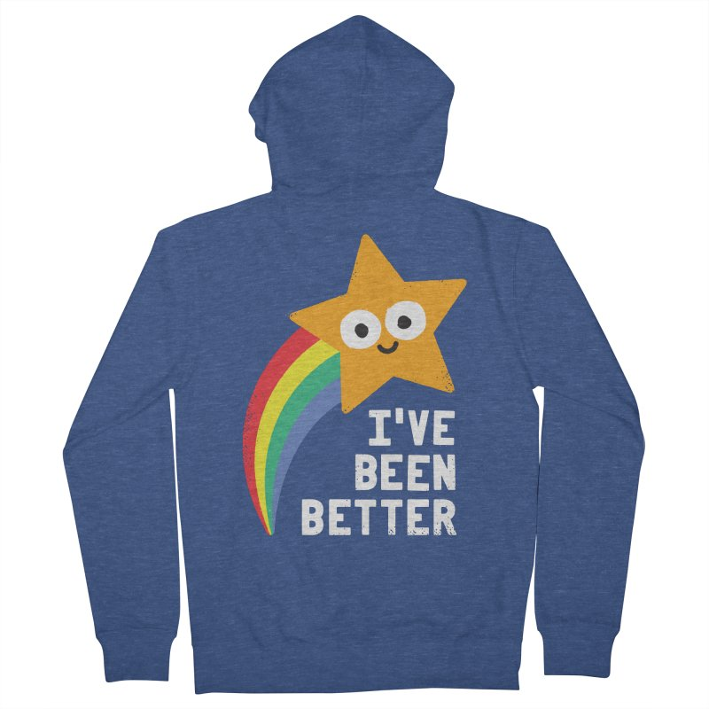 Shooting Straight Men's French Terry Zip-Up Hoody by David Olenick