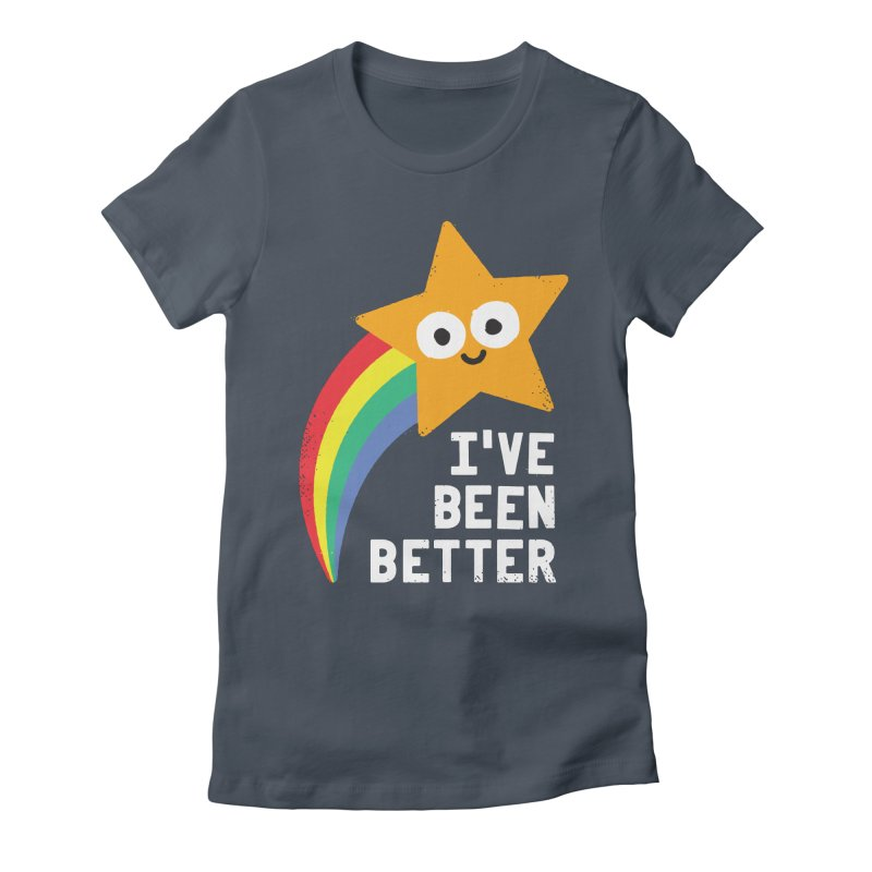 Shooting Straight Women's Fitted T-Shirt by David Olenick