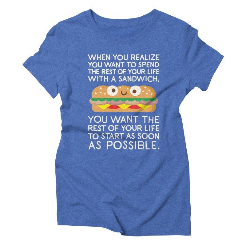 When Harry Met Sandwich Women's Triblend T-shirt by David Olenick