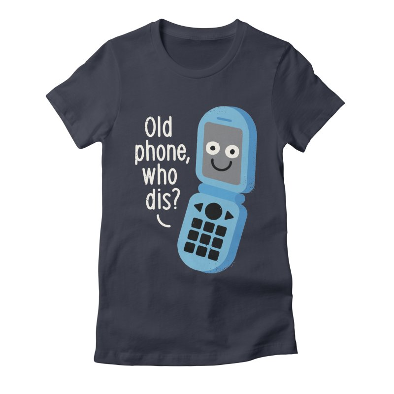 Flip Service Women's Fitted T-Shirt by David Olenick