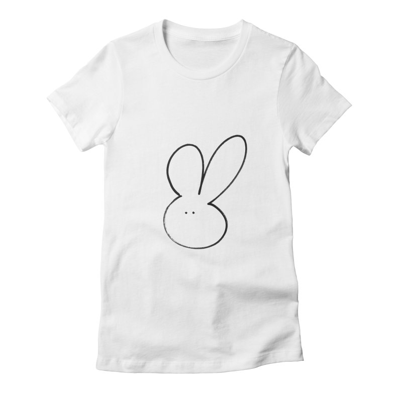 The rabbit Women's Fitted T-Shirt by davidsfeir's Artist Shop