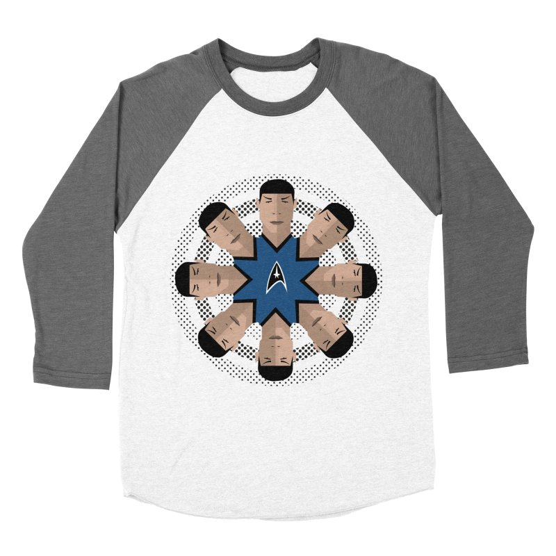 Seeing Spock Men's Baseball Triblend T-Shirt by Mexican Dave's Artist Shop