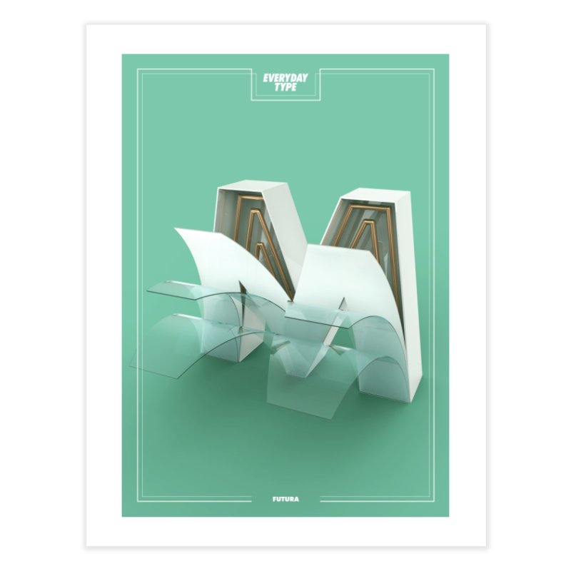 Everyday Type - M Home Framed Fine Art Print by davidsumdesign's Artist Shop