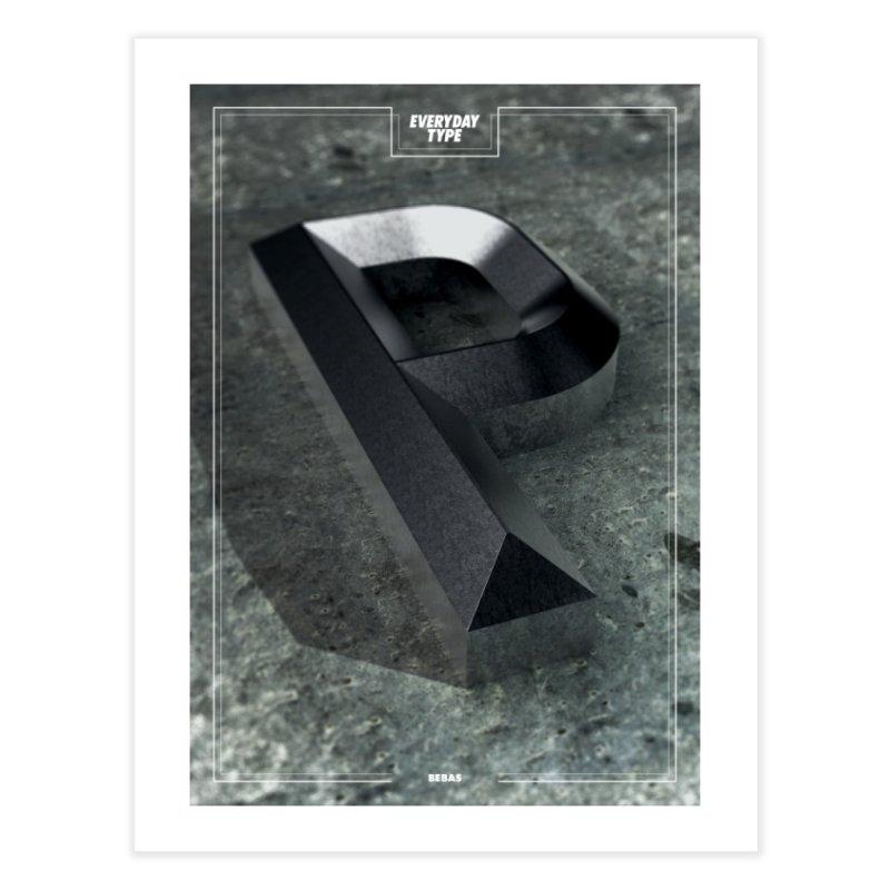 Everyday Type - P Home Framed Fine Art Print by davidsumdesign's Artist Shop
