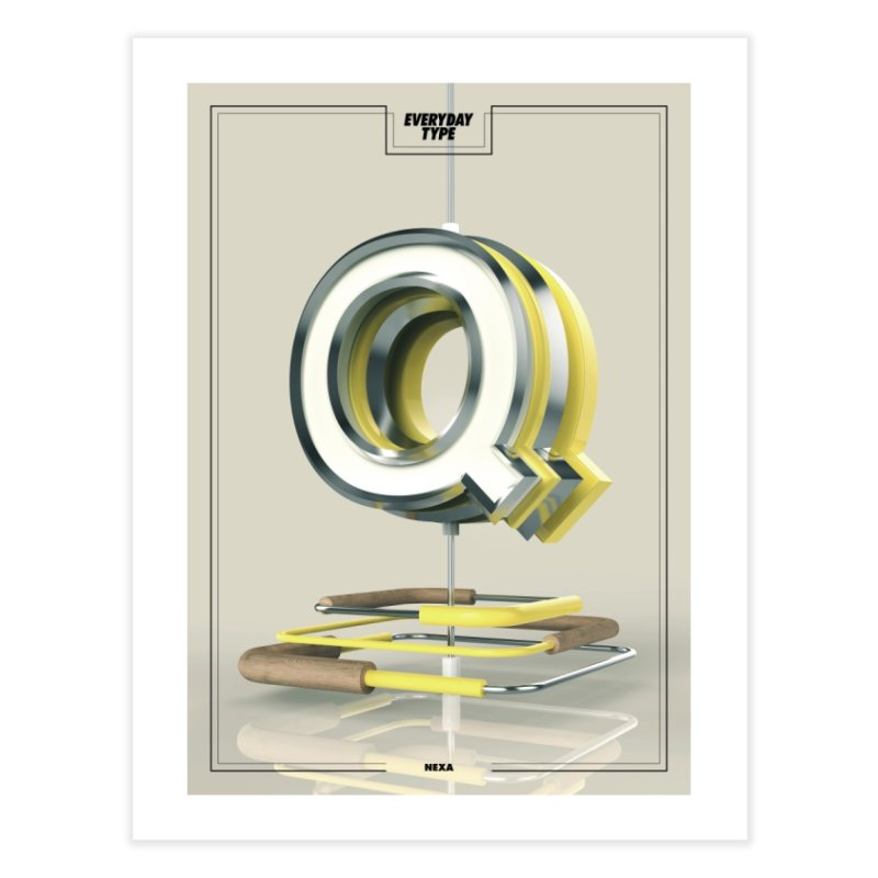 Everyday Type - Q Home Framed Fine Art Print by davidsumdesign's Artist Shop