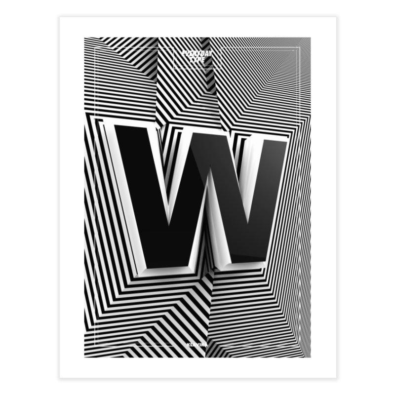 Everyday Type - W  Home Framed Fine Art Print by davidsumdesign's Artist Shop