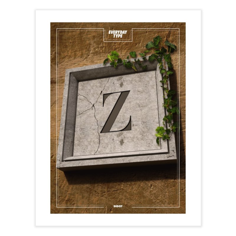 Everyday Type - Z  Home Fine Art Print by davidsumdesign's Artist Shop