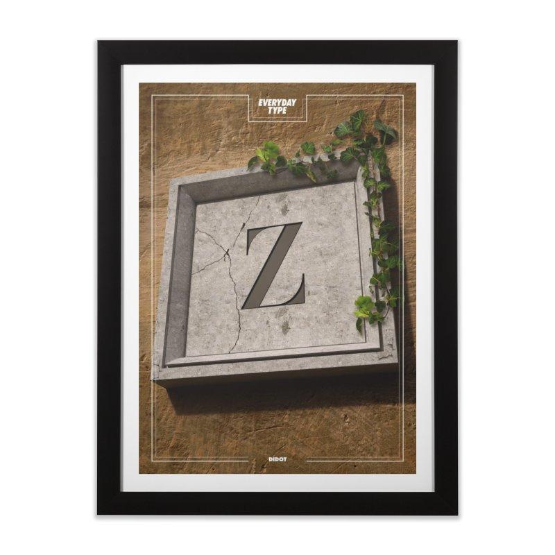 Everyday Type - Z  Home Framed Fine Art Print by davidsumdesign's Artist Shop