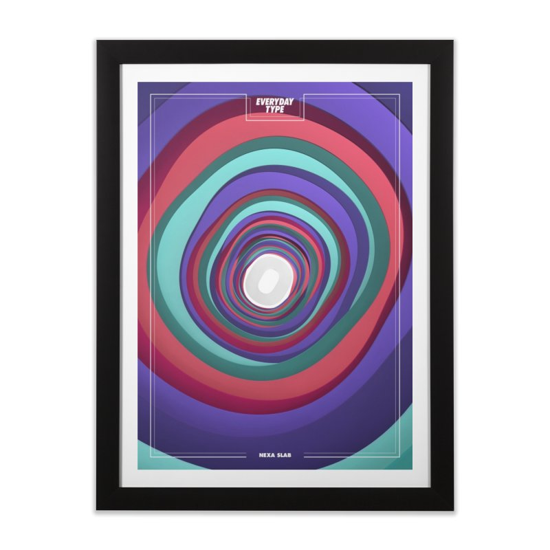 Everyday Type - 0 Home Framed Fine Art Print by davidsumdesign's Artist Shop