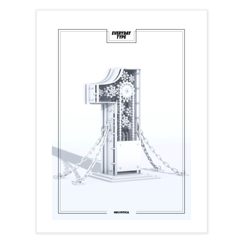 Everyday Type - 1 Home Fine Art Print by davidsumdesign's Artist Shop