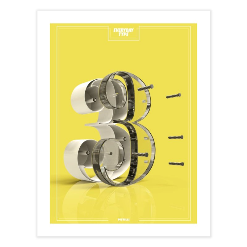 Everyday Type - 3 Home Fine Art Print by davidsumdesign's Artist Shop