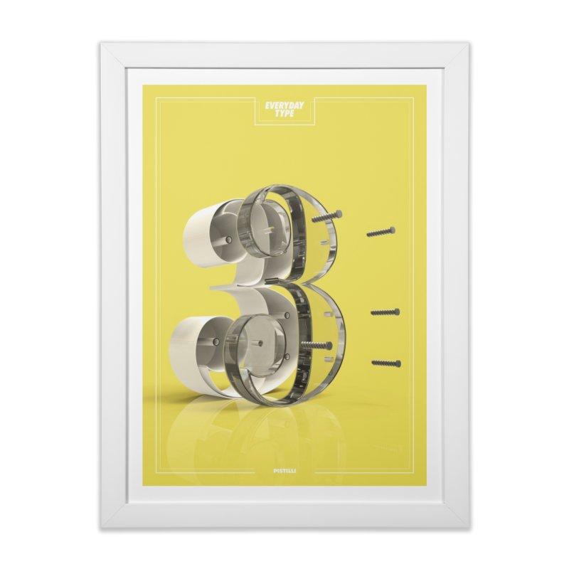 Everyday Type - 3 Home Framed Fine Art Print by davidsumdesign's Artist Shop