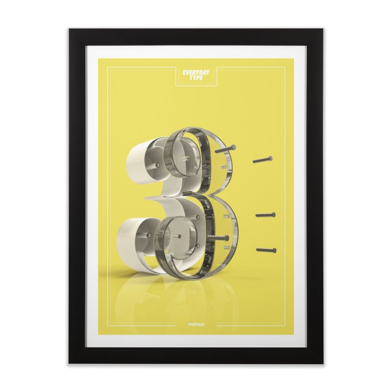 Everyday Type - 3 Home Framed Fine Art Print by davidsumdesign's Artist Shop