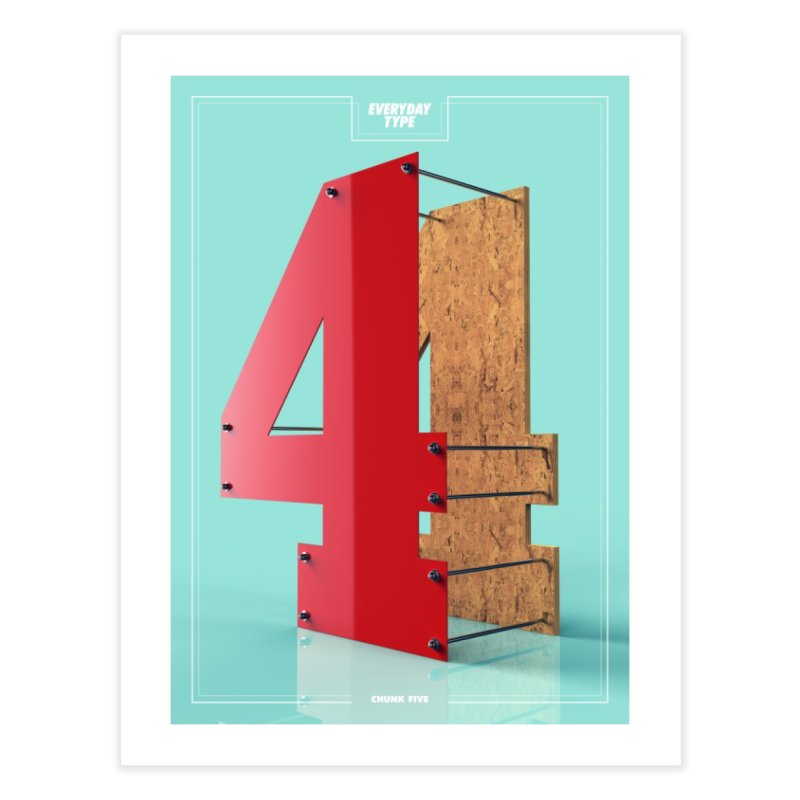 Everyday Type - 4  Home Fine Art Print by davidsumdesign's Artist Shop