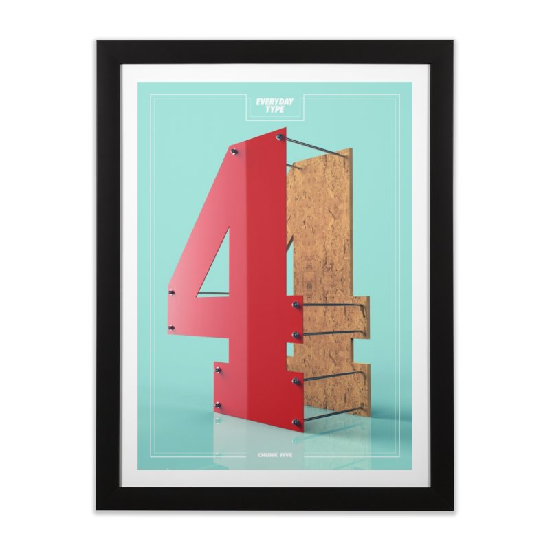 Everyday Type - 4  Home Framed Fine Art Print by davidsumdesign's Artist Shop
