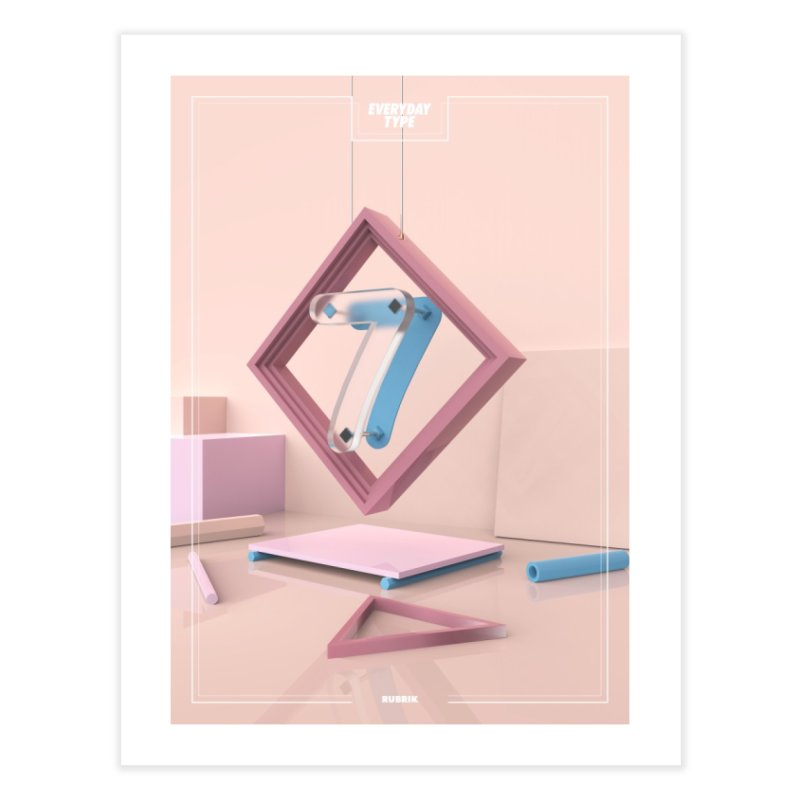 Everyday Type - 7  Home Fine Art Print by davidsumdesign's Artist Shop