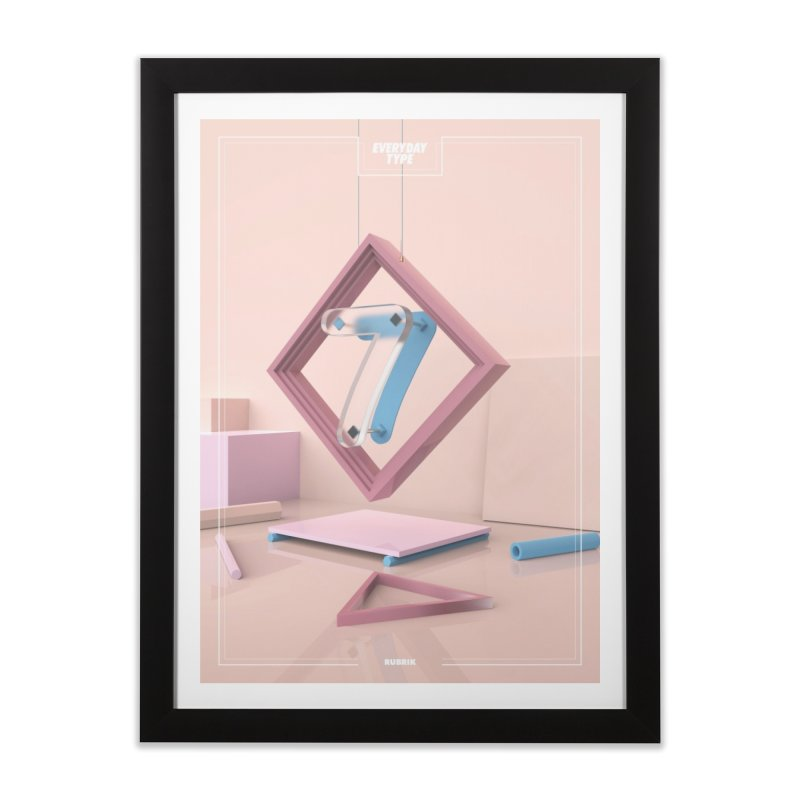 Everyday Type - 7  Home Framed Fine Art Print by davidsumdesign's Artist Shop
