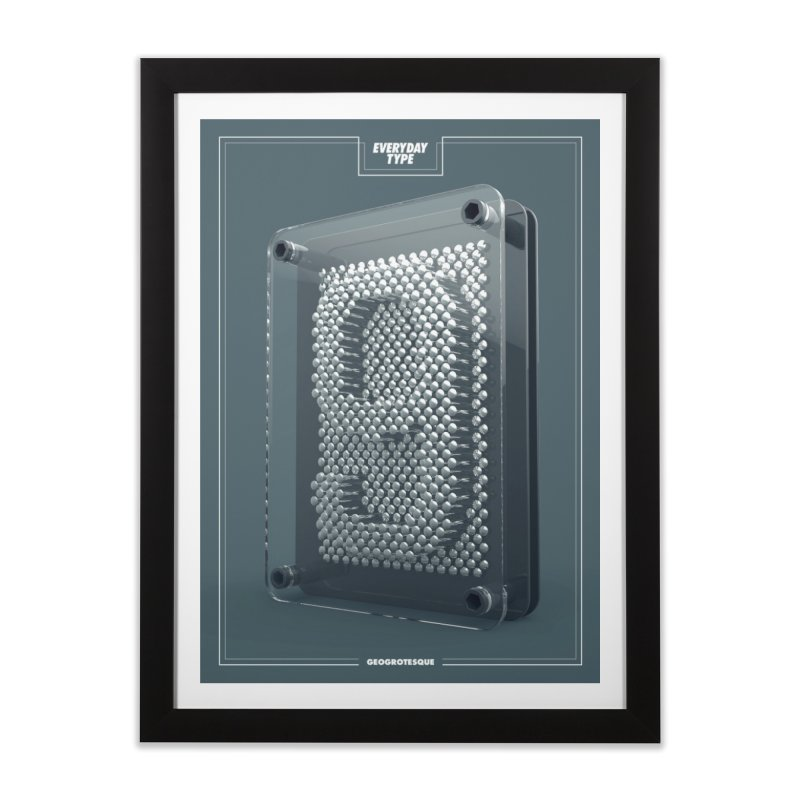 Everyday Type - 9  Home Framed Fine Art Print by davidsumdesign's Artist Shop