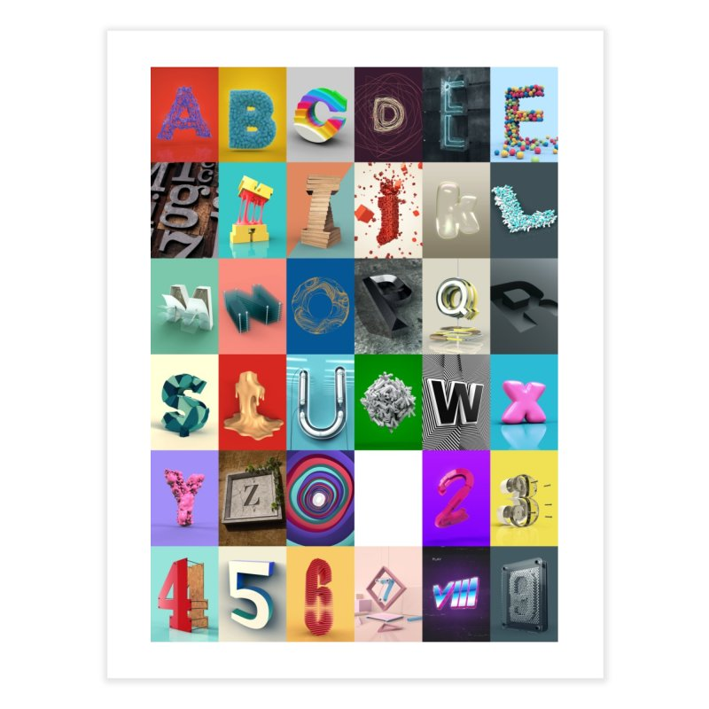 Everyday Type - Poster Home Fine Art Print by davidsumdesign's Artist Shop