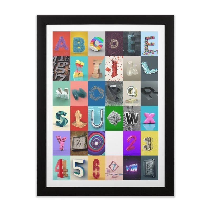 Everyday Type - Poster Home Framed Fine Art Print by davidsumdesign's Artist Shop