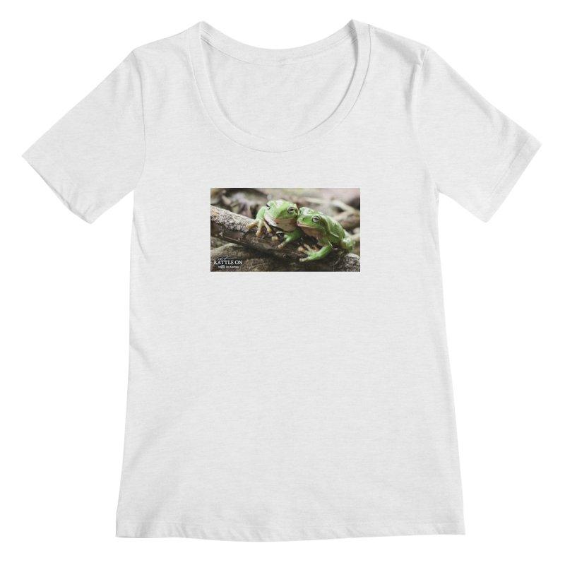 White's Tree Frogs Women's Regular Scoop Neck by Dav Kaufman's Swag Shop!