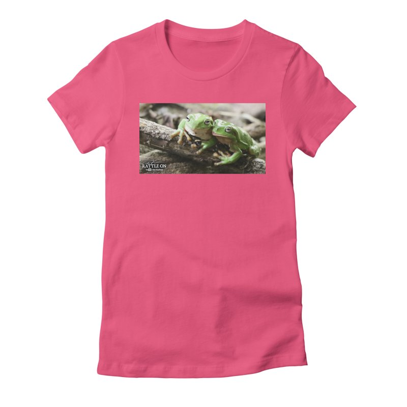 White's Tree Frogs Women's Fitted T-Shirt by Dav Kaufman's Swag Shop!