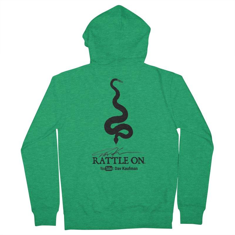Black Rattle On Logo Women's Zip-Up Hoody by Dav Kaufman's Swag Shop!