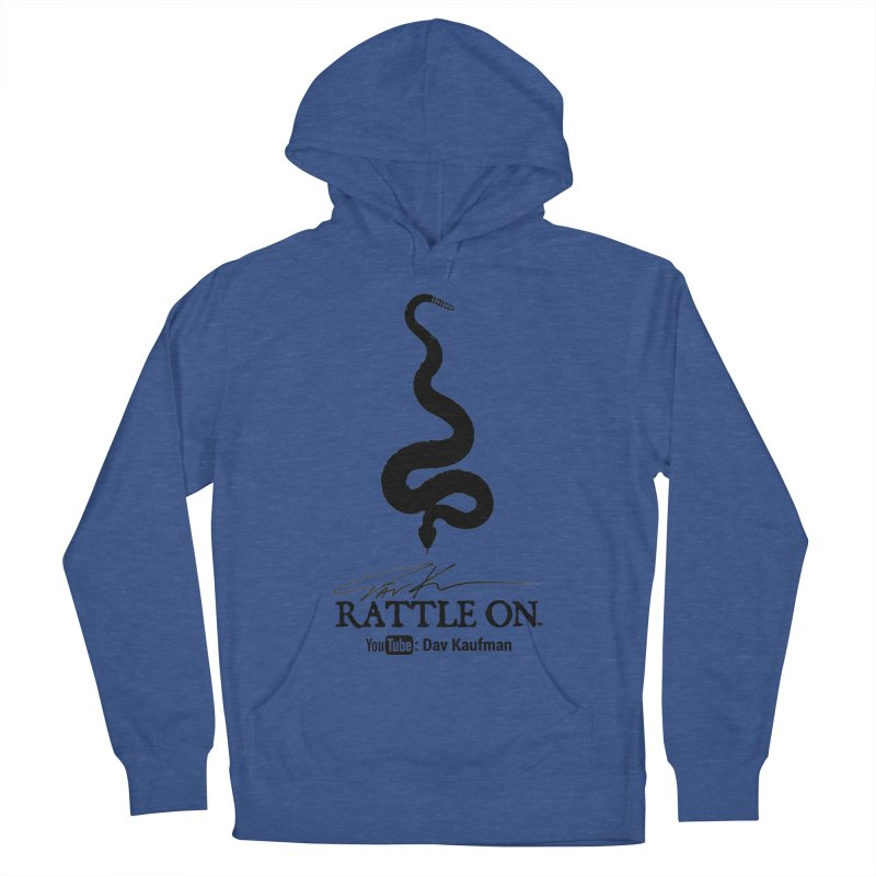 Black Rattle On Logo Men's Pullover Hoody by Dav Kaufman's Swag Shop!