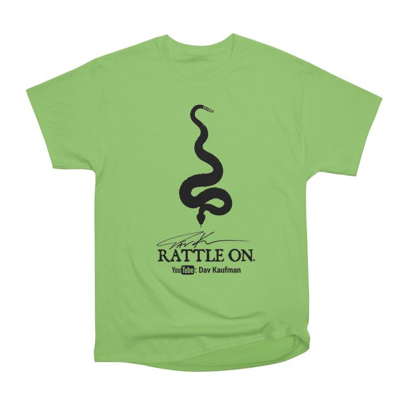 Black Rattle On Logo Men's T-Shirt by Dav Kaufman's Swag Shop!