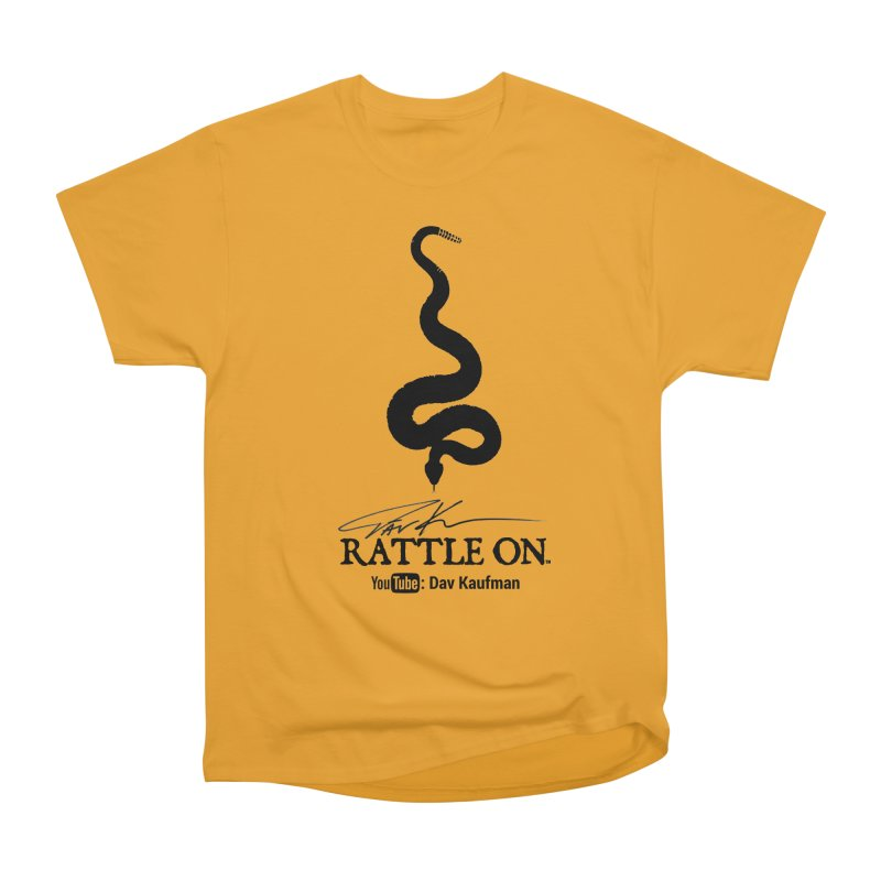 Black Rattle On Logo Women's Classic Unisex T-Shirt by Dav Kaufman's Swag Shop!
