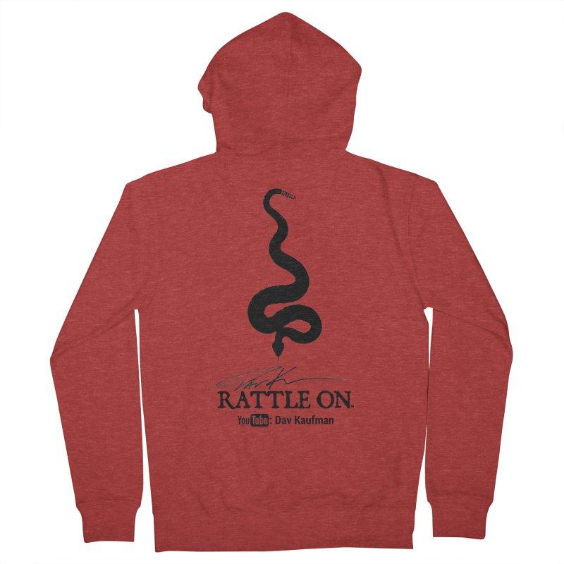 Black Rattle On Logo Men's Zip-Up Hoody by Dav Kaufman's Swag Shop!