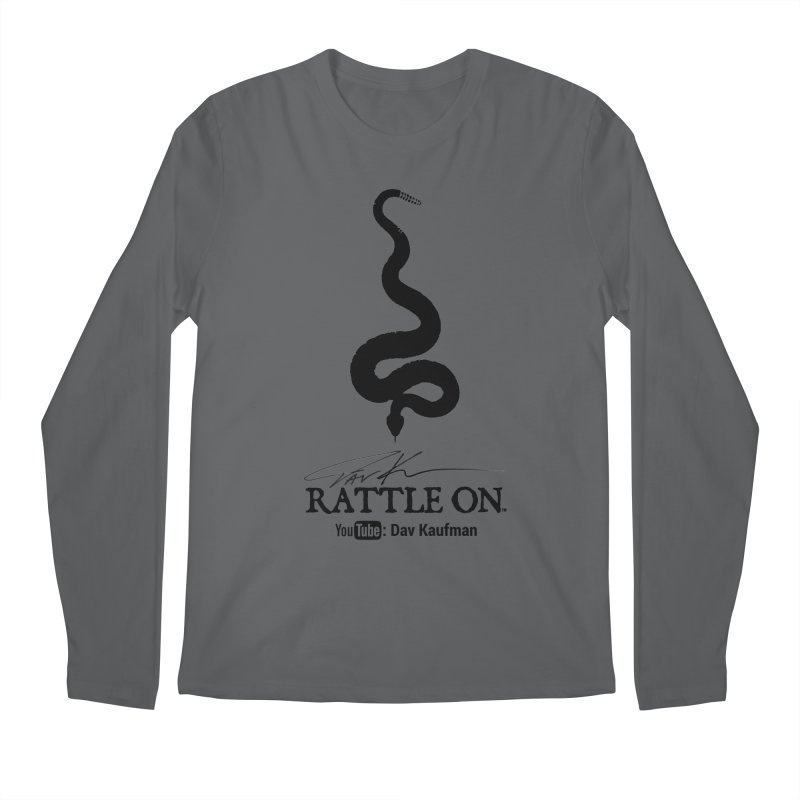 Black Rattle On Logo Men's Longsleeve T-Shirt by Dav Kaufman's Swag Shop!