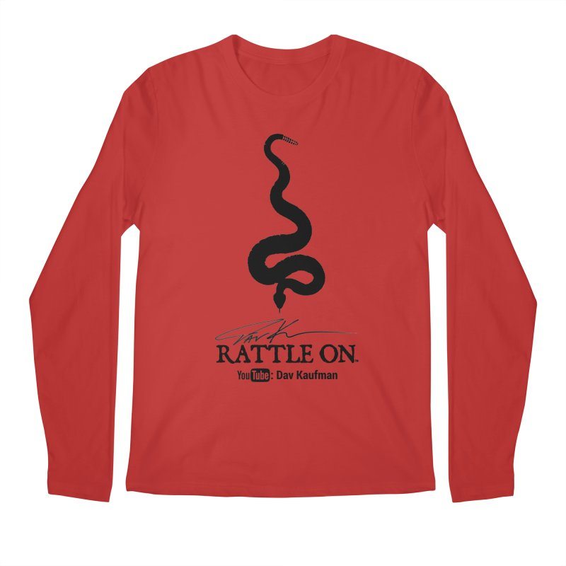 Black Rattle On Logo Men's Longsleeve T-Shirt by Dav Kaufman's Swag Shop!