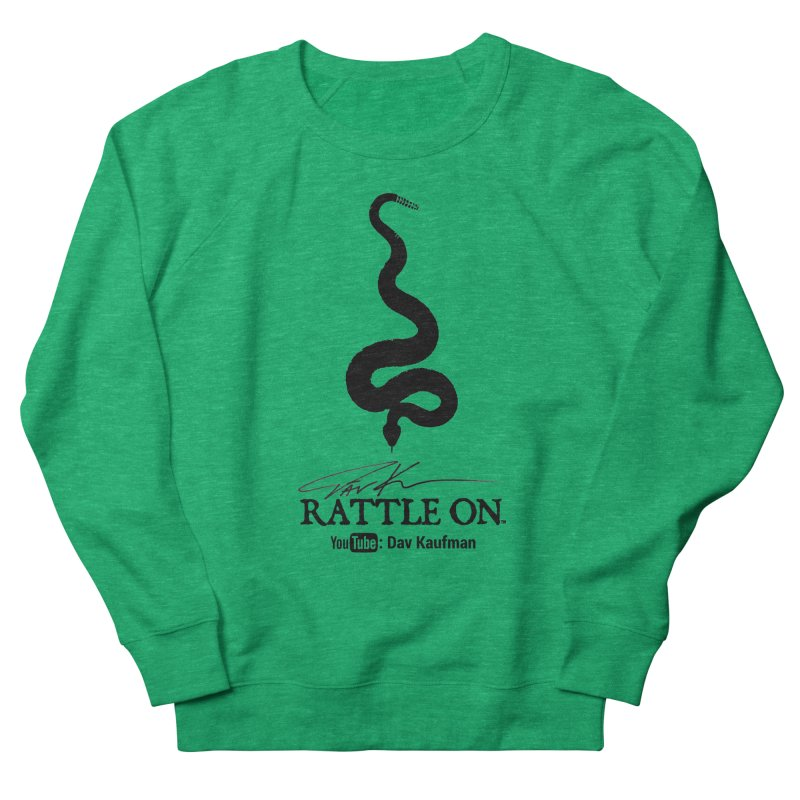 Black Rattle On Logo Women's Sweatshirt by Dav Kaufman's Swag Shop!