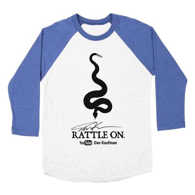 Black Rattle On Logo Women's Baseball Triblend Longsleeve T-Shirt by Dav Kaufman's Swag Shop!